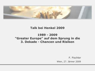 F. Fischler Wien, 27. Jänner 2009