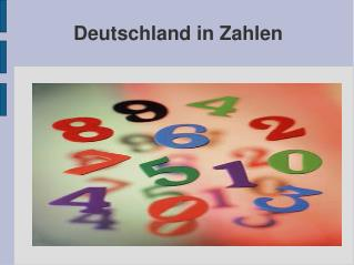 Deutschland in Zahlen