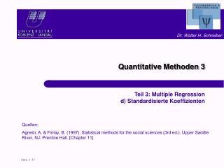 Quantitative Methoden 3