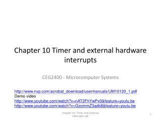 Chapter 10 Timer and external hardware interrupts