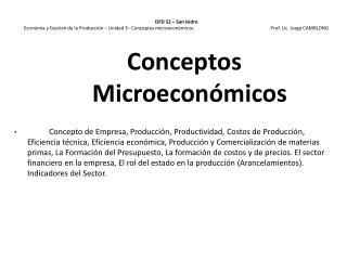Conceptos Microecon�micos