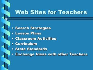 Web Sites for Teachers