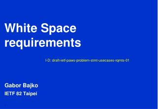 White Space requirements