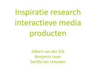 Wat voor (categorieën) interactieve media producten zijn er?