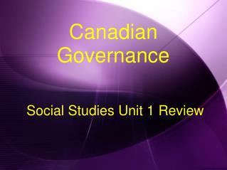 Social Studies Unit 1 Review