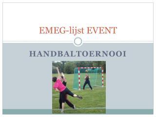 EMEG- lijst  EVENT