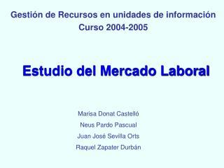 Estudio del Mercado Laboral