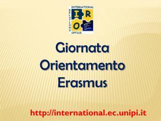 Giornata Orientamento  Erasmus