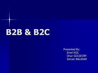 B2B & B2C