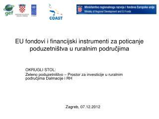 EU fondovi i financijski instrumenti za poticanje poduzetništva u ruralnim područjima