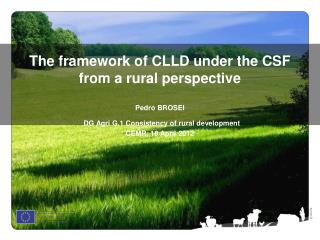 Community-led local development (CLLD) in the new framework