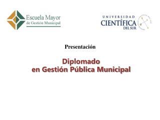 Diplomado  en Gesti�n P�blica Municipal