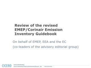 Review of the revised EMEP/Corinair Emission Inventory Guidebook