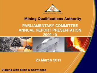 PARLIAMENTARY COMMITTEE ANNUAL REPORT PRESENTATION  2009-10