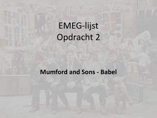 EMEG-lijst Opdracht 2