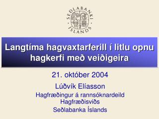 Langtíma hagvaxtarferill í litlu opnu hagkerfi með veiðigeira