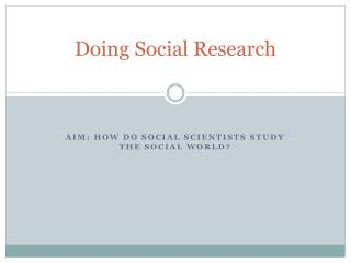 Doing Social Research