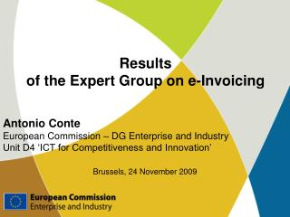 Results of the Expert Group on e-Invoicing