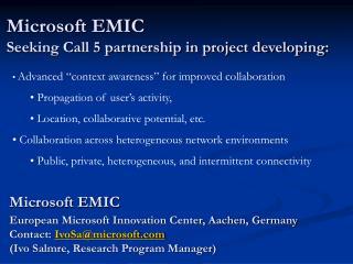 Microsoft EMIC