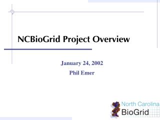 NCBioGrid Project Overview