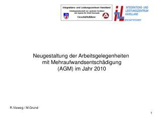 Neugestaltung der Arbeitsgelegenheiten  mit Mehraufwandsentschädigung (AGM) im Jahr 2010