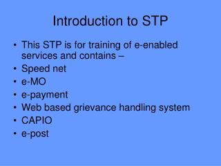 Introduction to STP
