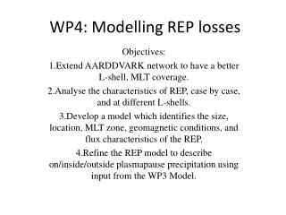 WP4: Modelling REP losses