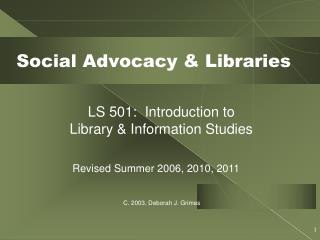 Social Advocacy & Libraries