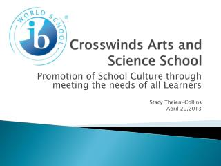 Crosswinds Arts and Science School