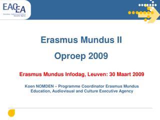 Erasmus Mundus II  Oproep 2009
