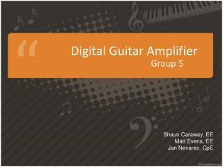 Digital Guitar Amplifier