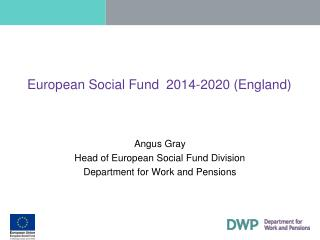 European Social Fund  2014-2020 (England)