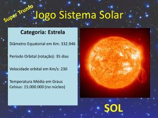 Jogo Sistema Solar