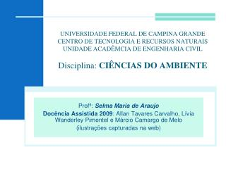Prof� :  Selma Maria de Araujo