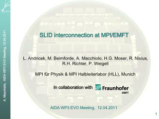 SLID interconnection at MPI/EMFT