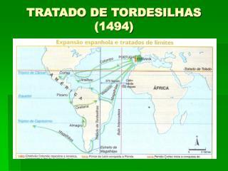 TRATADO DE TORDESILHAS (1494)