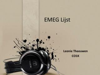 EMEG Lijst