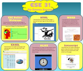 CSE 3! By Emma  Sasson