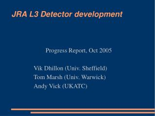 JRA L3 Detector development