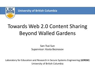 Towards Web 2.0 Content Sharing  Beyond Walled Gardens