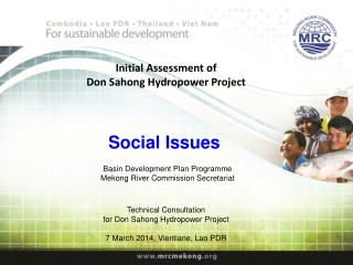Initial Assessment of Don Sahong Hydropower Project