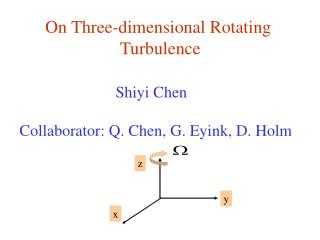 On Three-dimensional Rotating  Turbulence