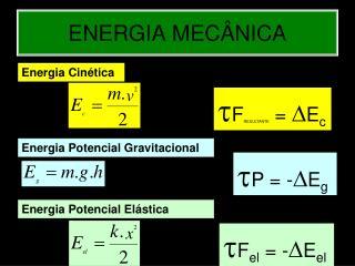ENERGIA MEC�NICA