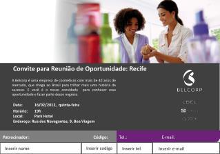 Convite para Reuni�o de Oportunidade: Recife