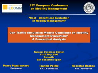Can Traffic Simulation Models Contribute on Mobility Management Evaluation? A Conceptual Analysis
