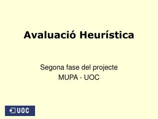 Avaluaci� Heur�stica