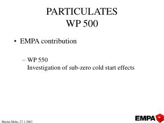 PARTICULATES WP 500