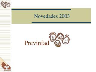 Novedades 2003