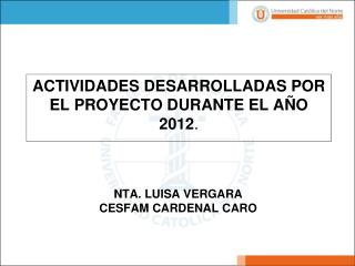 NTA. LUISA VERGARA CESFAM CARDENAL CARO