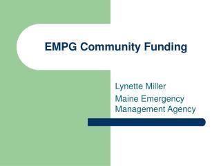 EMPG Community Funding
